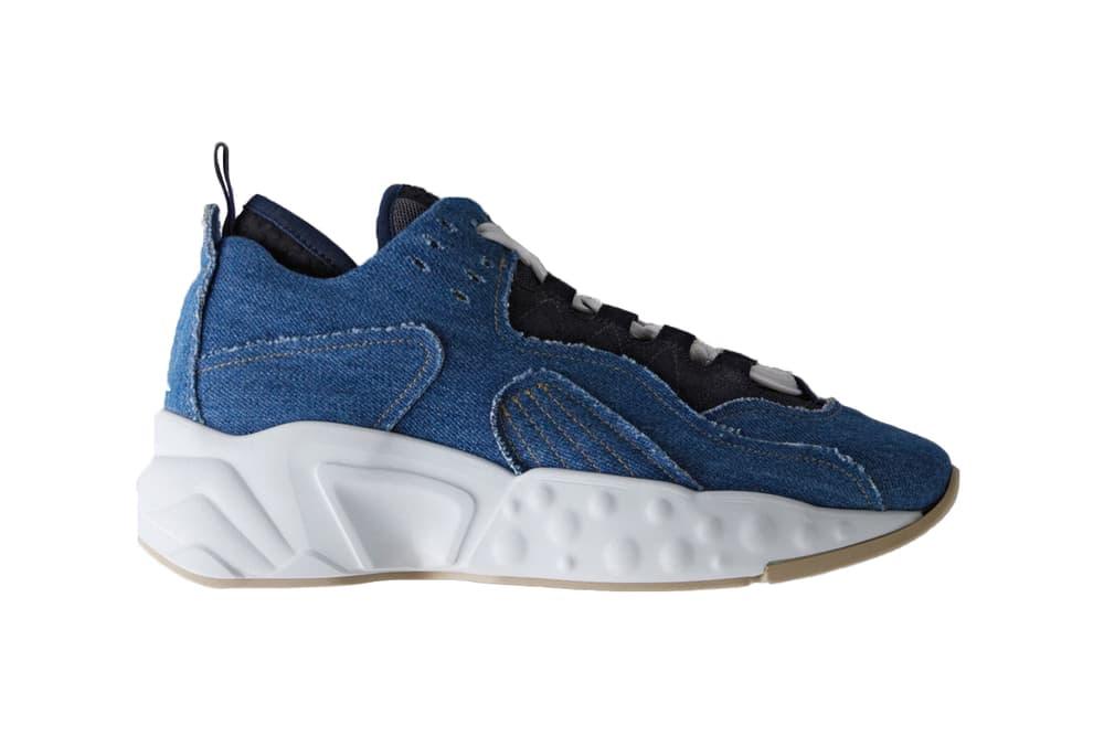 acne studios manhattan fab denim blue sneakers chunky bulky dad shoe
