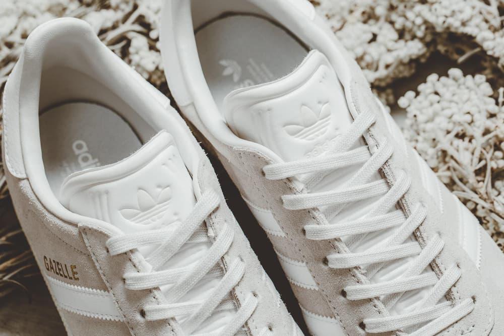 grey adidas gazelle nubuck