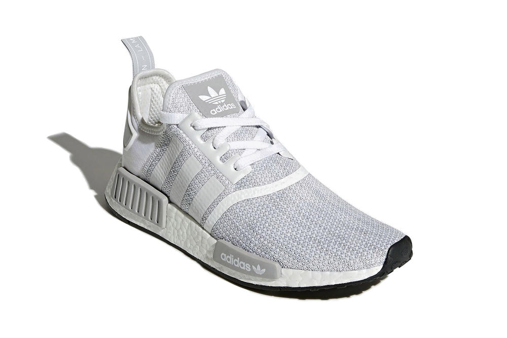 adidas NMD R1 White Grey Blizzard Colorway Sneaker Trainer Shoe Runner Clean Crisp Minimal