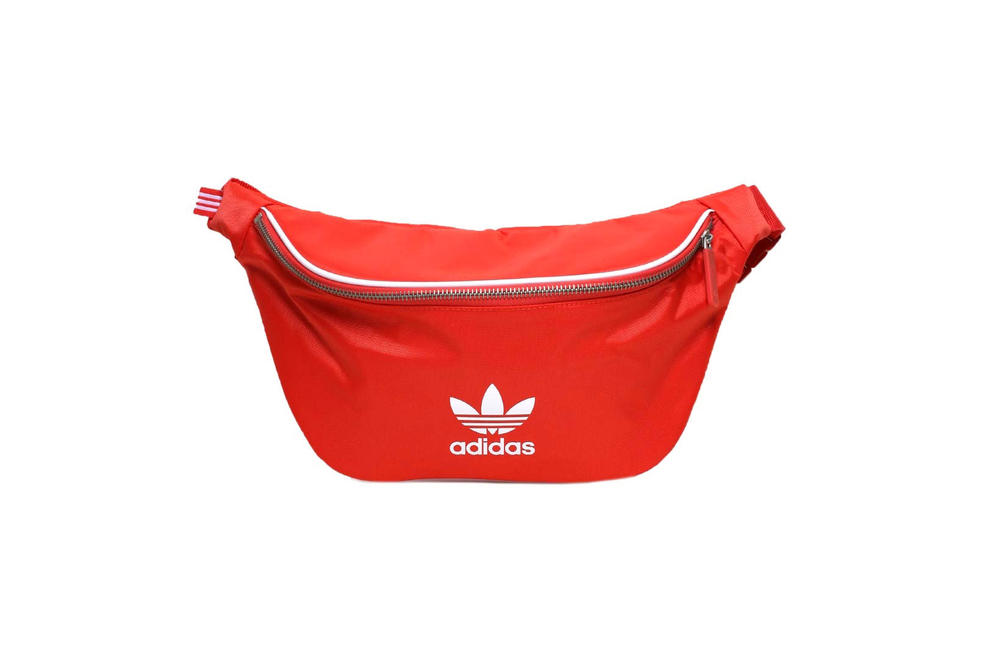 adidas Originals adicolor Waist Bag Black Trace Scarlet