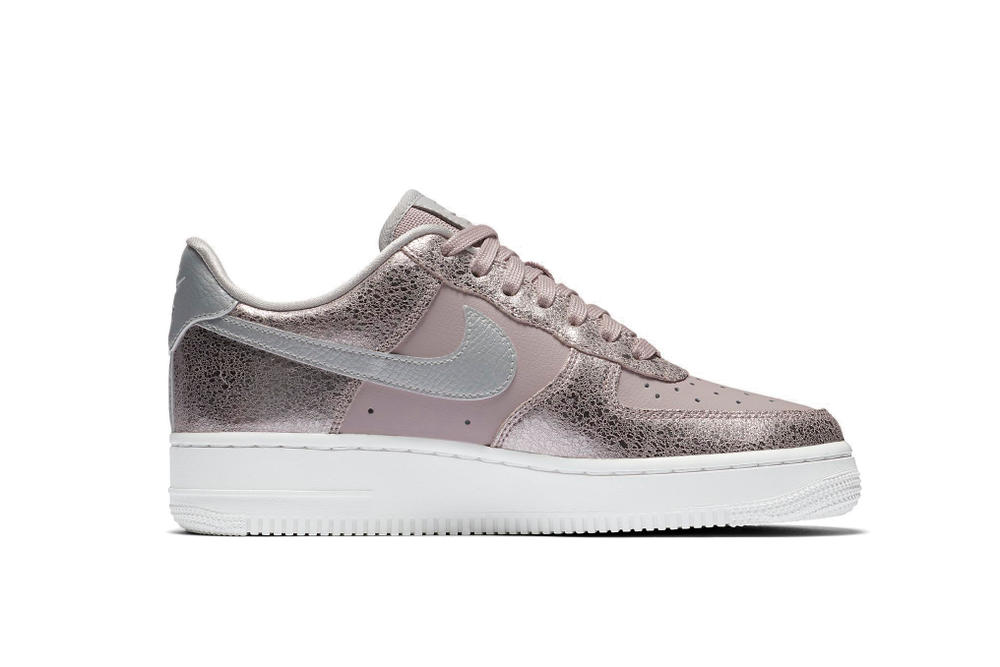 46d2d990cf48 Nike Air Force 1 Premium Sneaker Pink White Classic Colorway Basketball  Shoe Shop Bone Bordeaux Detail
