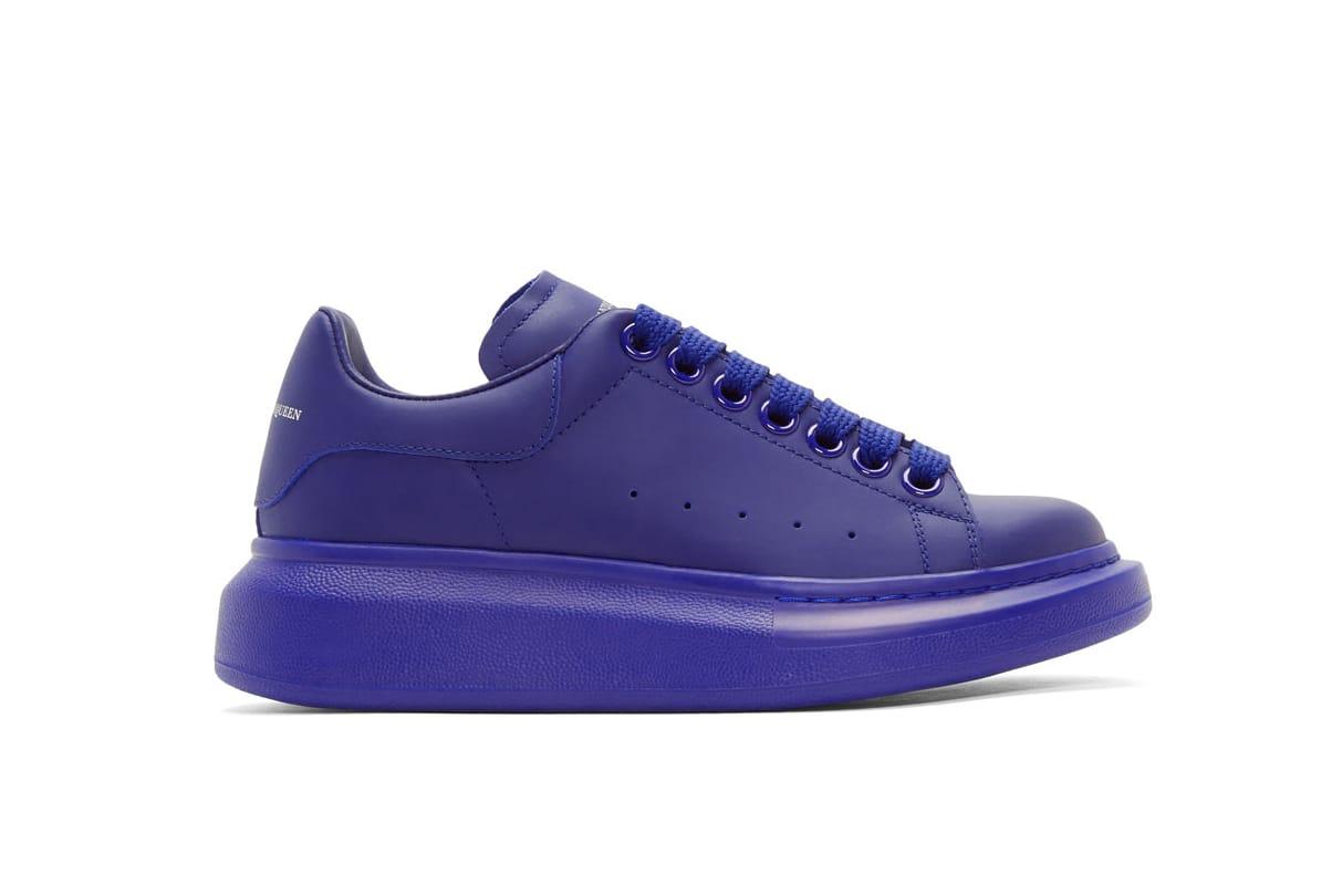 alexander mcqueen blue shoes Online