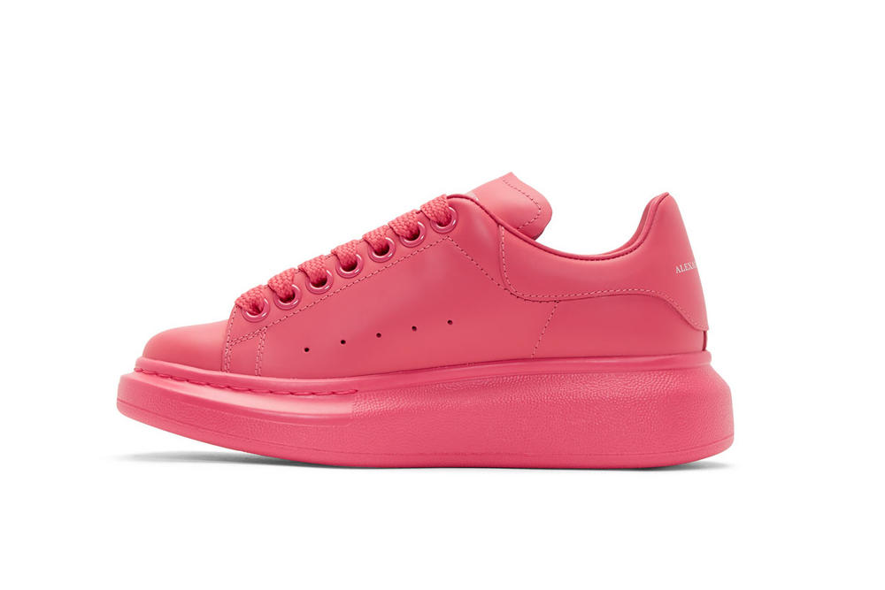Alexander McQueen Platform Sneaker Shoe Pink Blue Colorway Chunky Sole Lace Up Silhouette Luxury Color
