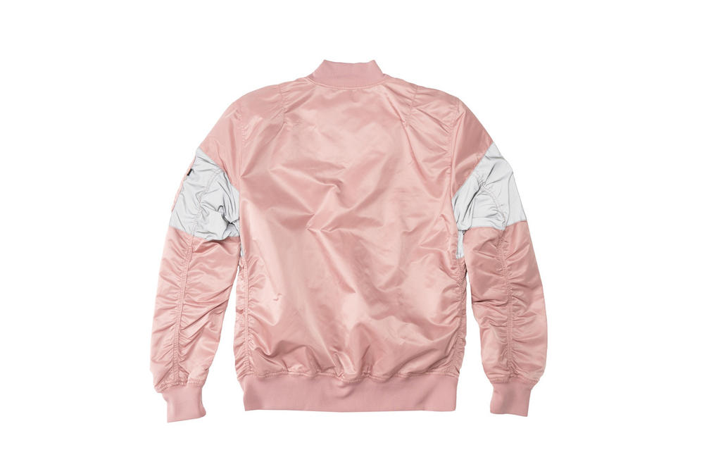 Alpha Industries MA-1 Reflective Jacket Silver Pink Back View