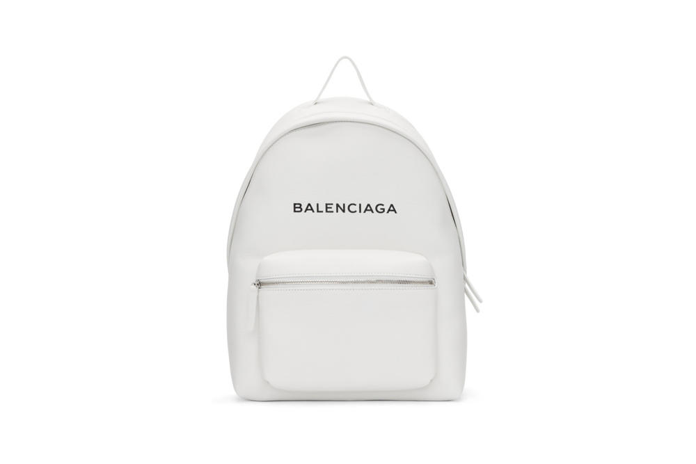 Balenciaga Everyday Logo Backpack White