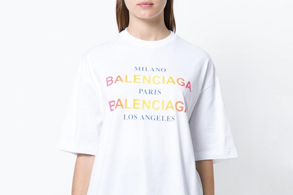 94aa719e0 Go on a World Tour With Balenciaga's New Cities T-Shirt. The Parisian brand  goes global. balenciaga oversized rainbow ...