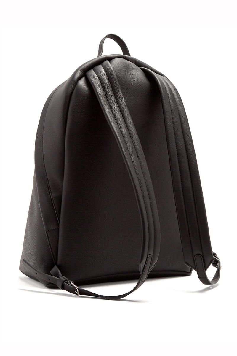 Balenciaga Everyday Logo Print Leather Backpack MATCHESFASHION Designer Bag Demna Gvasalia Black