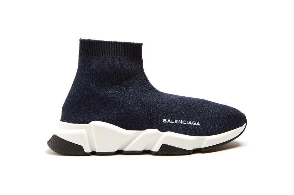 Balenciaga Speed Trainer Runner Sneaker Sock Shoe Glitter Logo Colorway Popular Where to Buy Silhouette