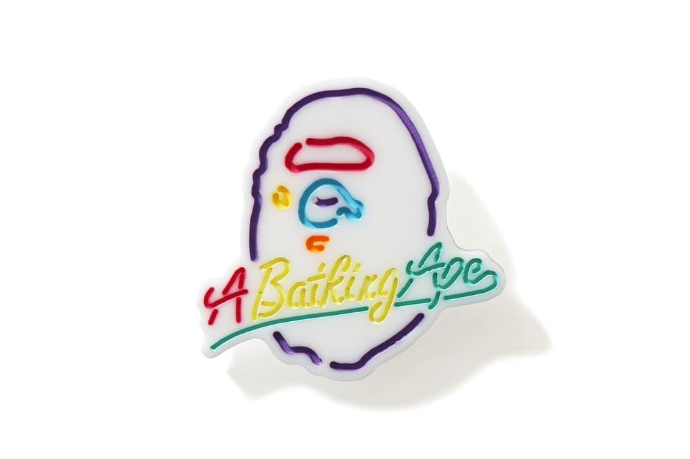 BAPE A Bathing Ape Earrings Neon Ape Head Black White Accessory Jewelry Streetwear Plastic Statement Piece