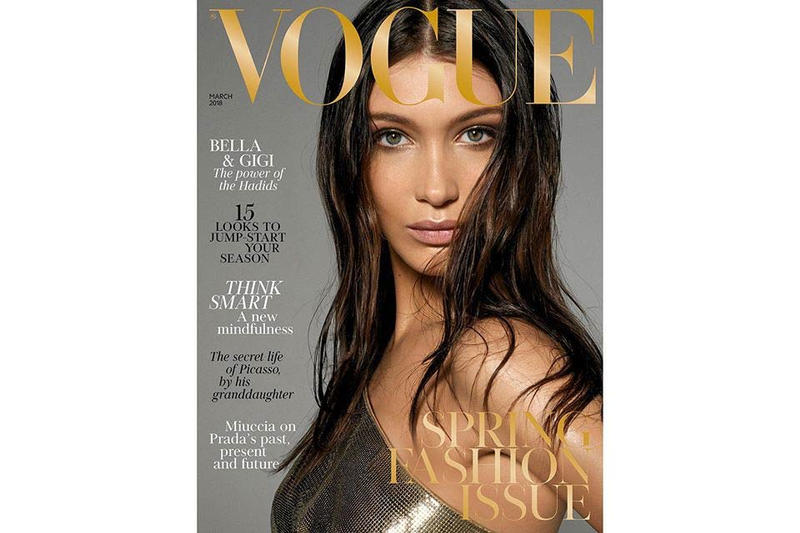Bella Gigi Hadid British Vogue March 2018 Cover