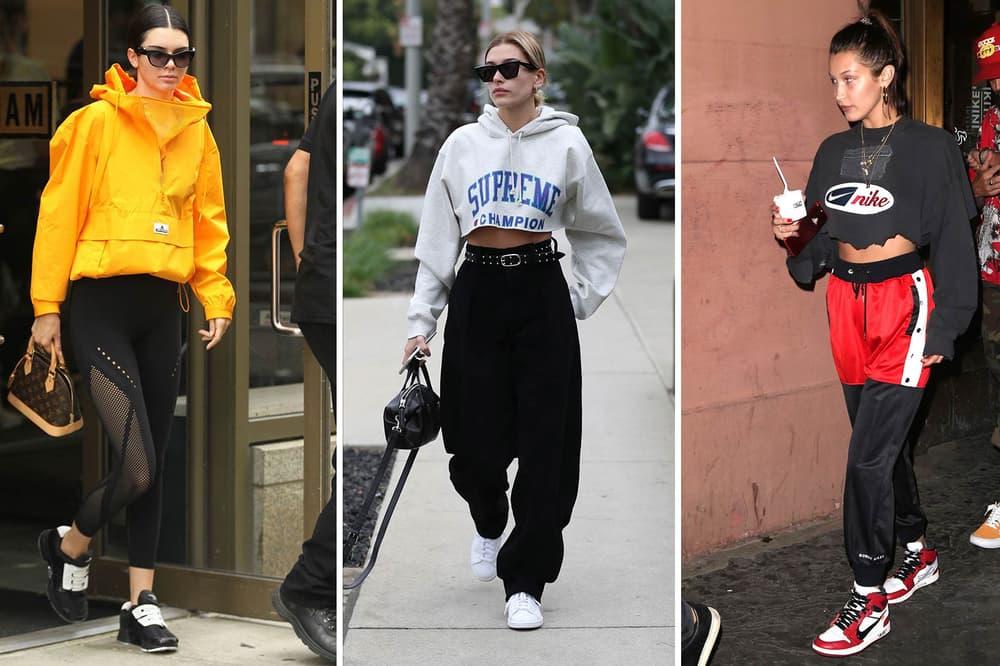 Kendall Jenner Hailey Bella Hadid 2017 Street Style Shot