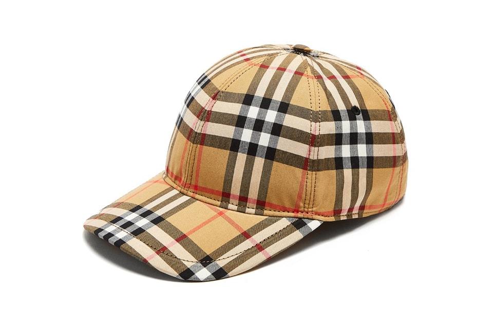 924fc08a720 Where to Buy Burberry s Checkered Baseball Cap