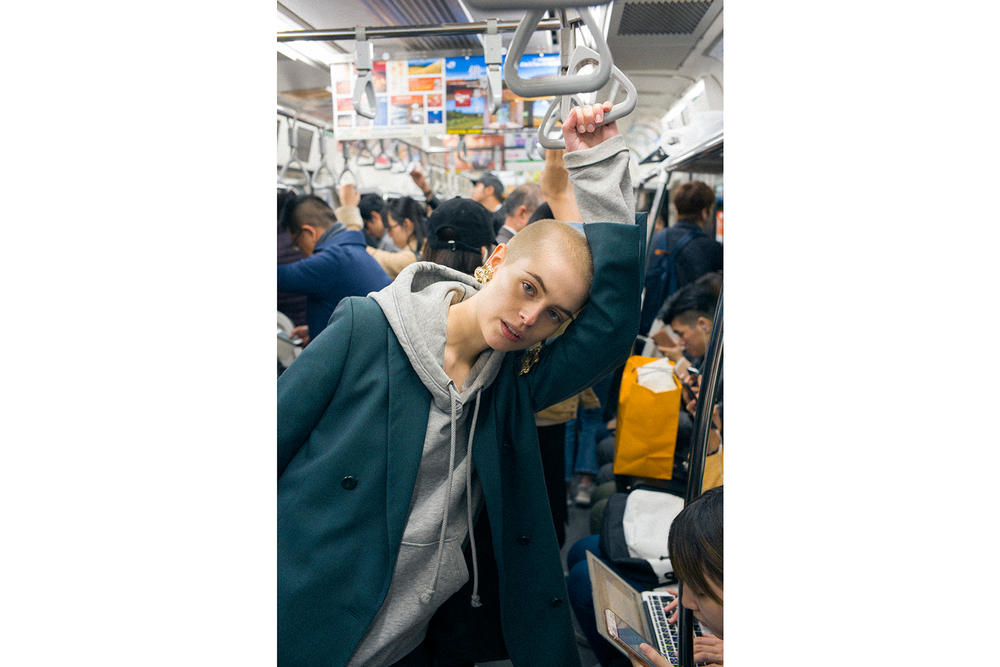 Cajsa Wessberg Swedish Model Buzzcut Tokyo Fashion Week 2017 Japan Photo Diary Mitograph Mito Shimpei JR Train Arcade Baseball Sweden Stockholm Interview
