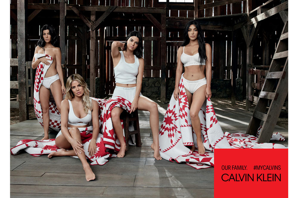 Kendall Jenner Kim Khloe Kourtney Kardashian Calvin Klein Underwear Campaign