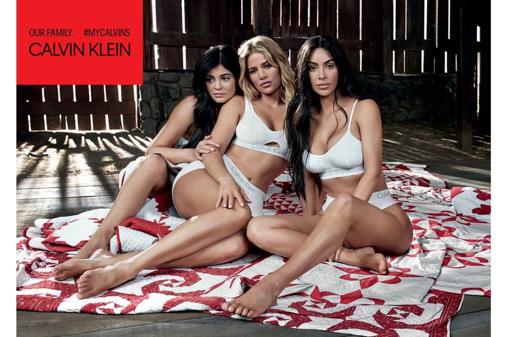 Kylie Jenner Kim Khloe Kardashian Calvin Klein Underwear Campaign