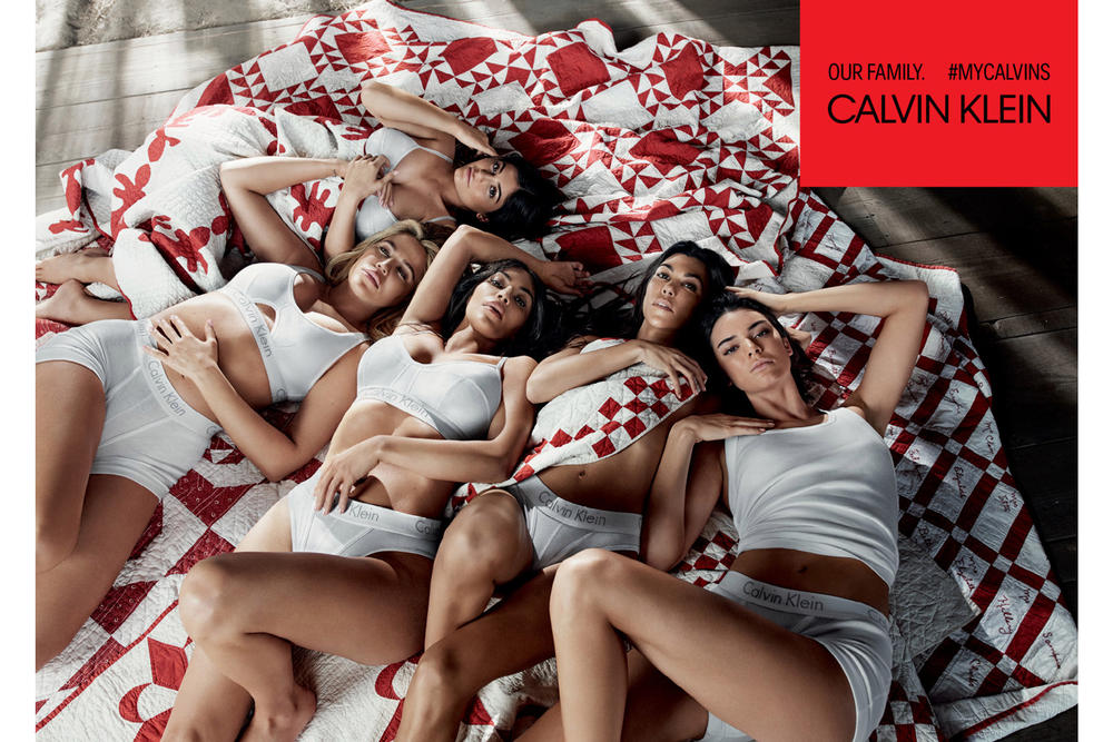 Kendall Kylie Jenner Kim Khloe Kourtney Kardashian Calvin Klein Underwear Campaign