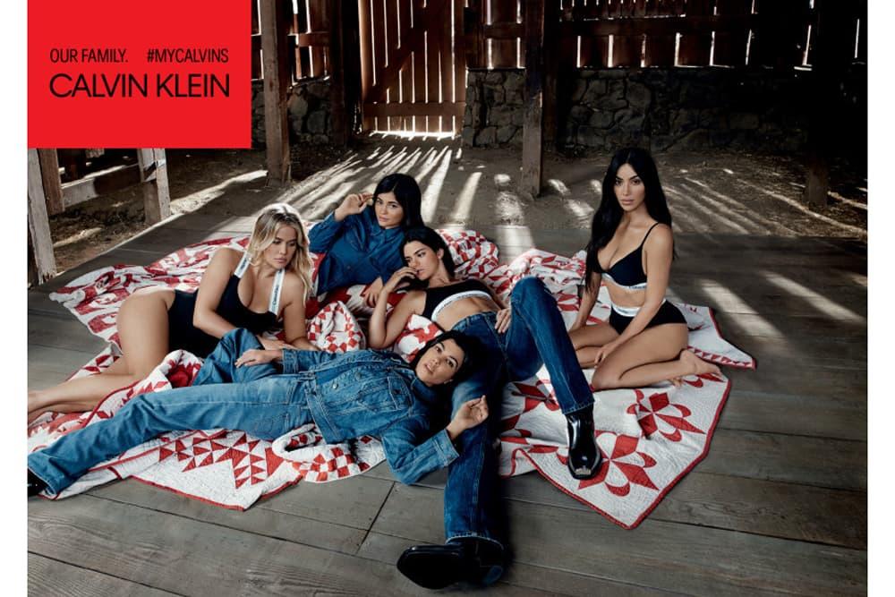 Kendall Kylie Jenner Kim Khloe Kourtney Kardashian Calvin Klein Jeans Underwear Campaign