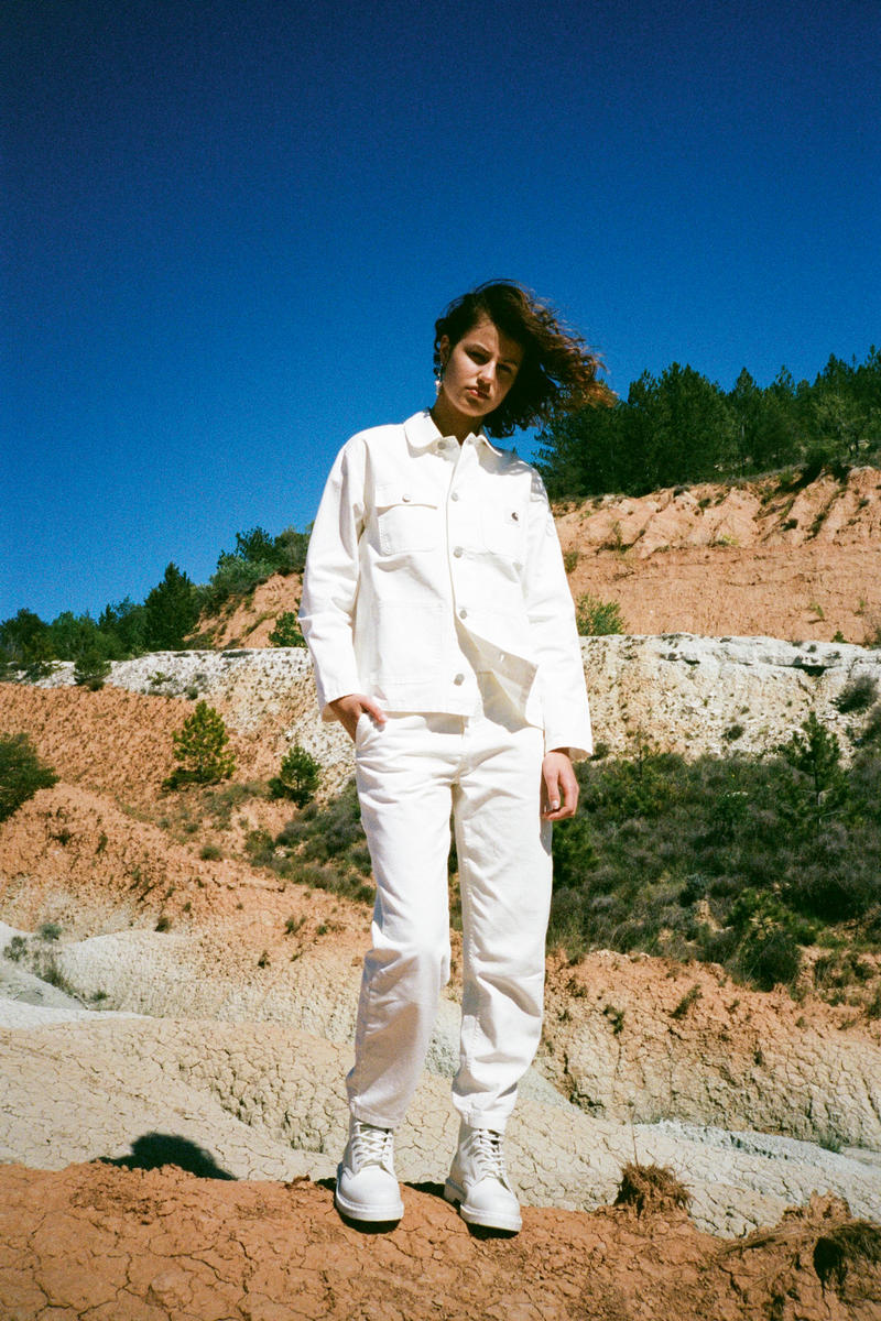 Carhartt WIP Spring/Summer 2018 Lookbook White Jacket Pants Front View