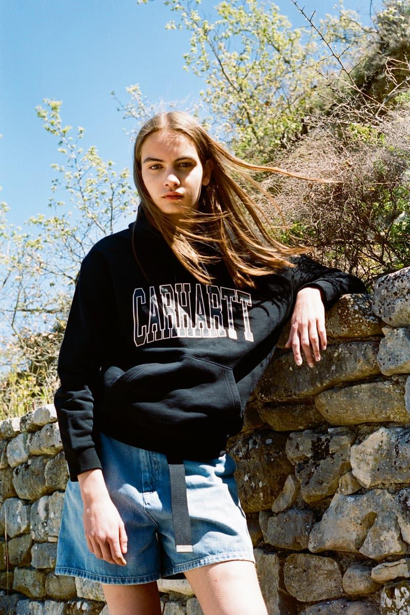 Carhartt WIP Spring/Summer 2018 Lookbook Black W Hooded Division Sweatshirt