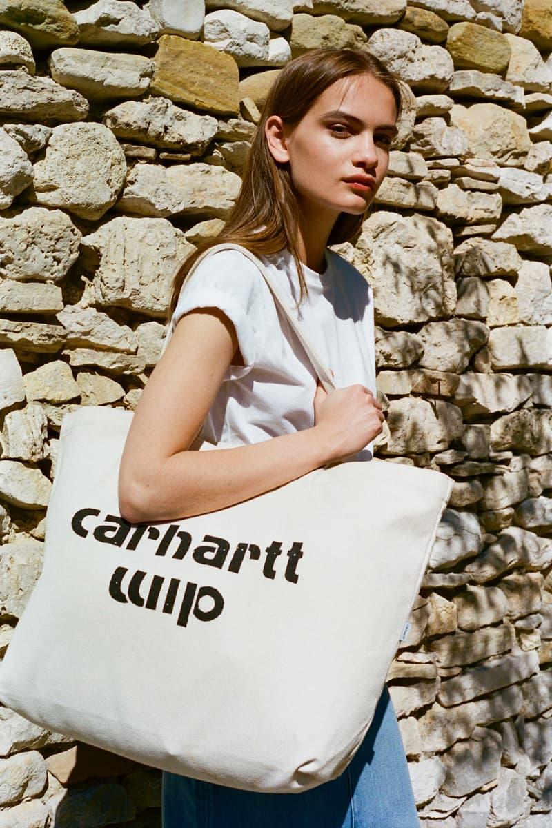 Carhartt WIP Spring/Summer 2018 Lookbook White T-Shirt Tan Tote Bag