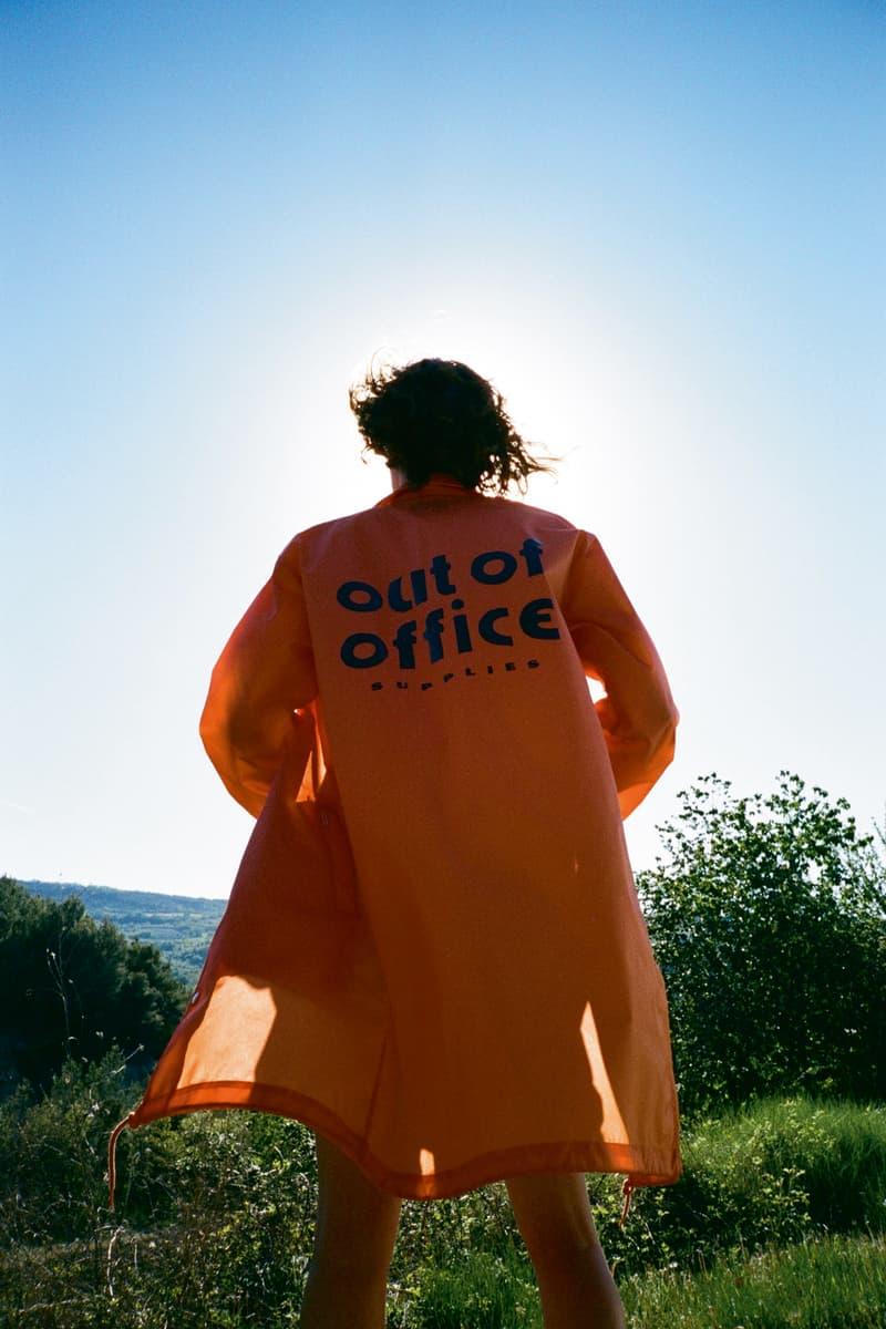Carhartt WIP Spring/Summer 2018 Lookbook Orange Out of Office Jacket Back