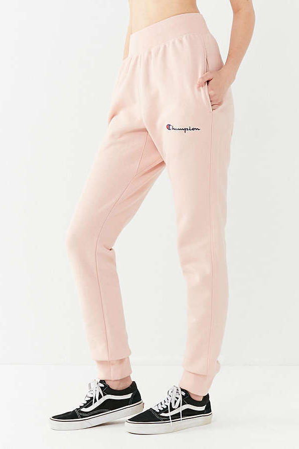 Champion x Urban Outfitters Reverse Weave Jogger Pant Pink Khaki