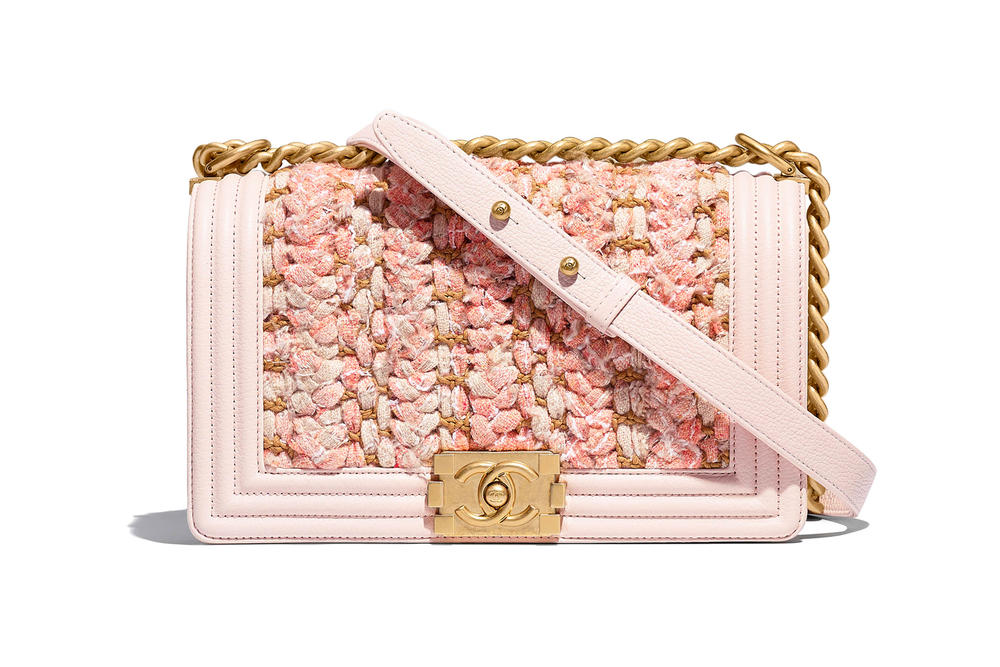 Chanel Boy Bag Spring Summer 2018 Pre Collection Pastel Pink Tweed