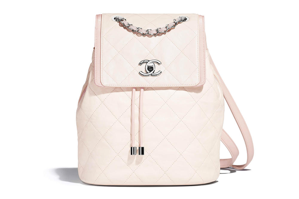 Chanel Backpack Flap Bag Spring Summer 2018 Pre Collection White Pastel