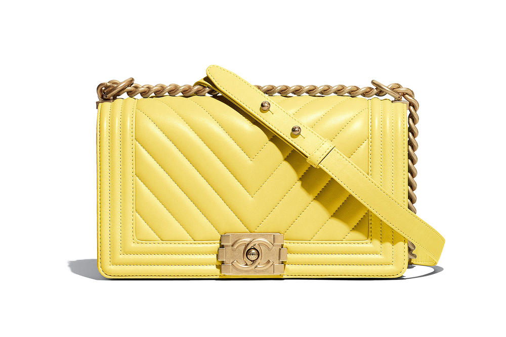 Chanel Boy Bag Spring Summer 2018 Pre Collection Yellow