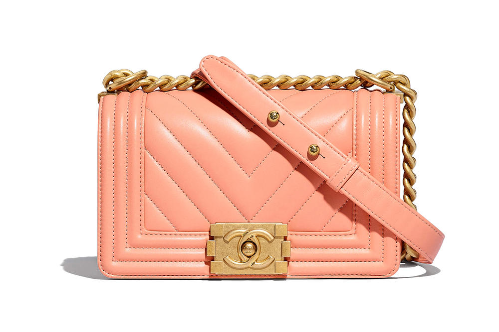 Chanel Boy Bag Spring Summer 2018 Pre Collection Coral Peach