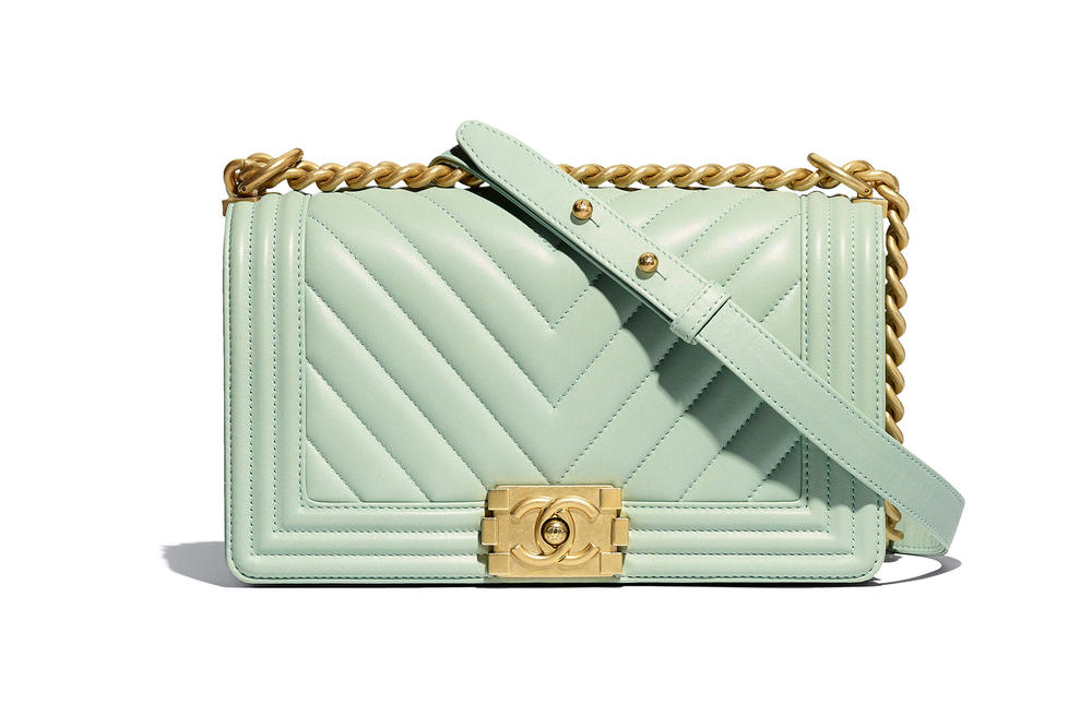Chanel Boy Bag Spring Summer 2018 Pre Collection Pastel Green