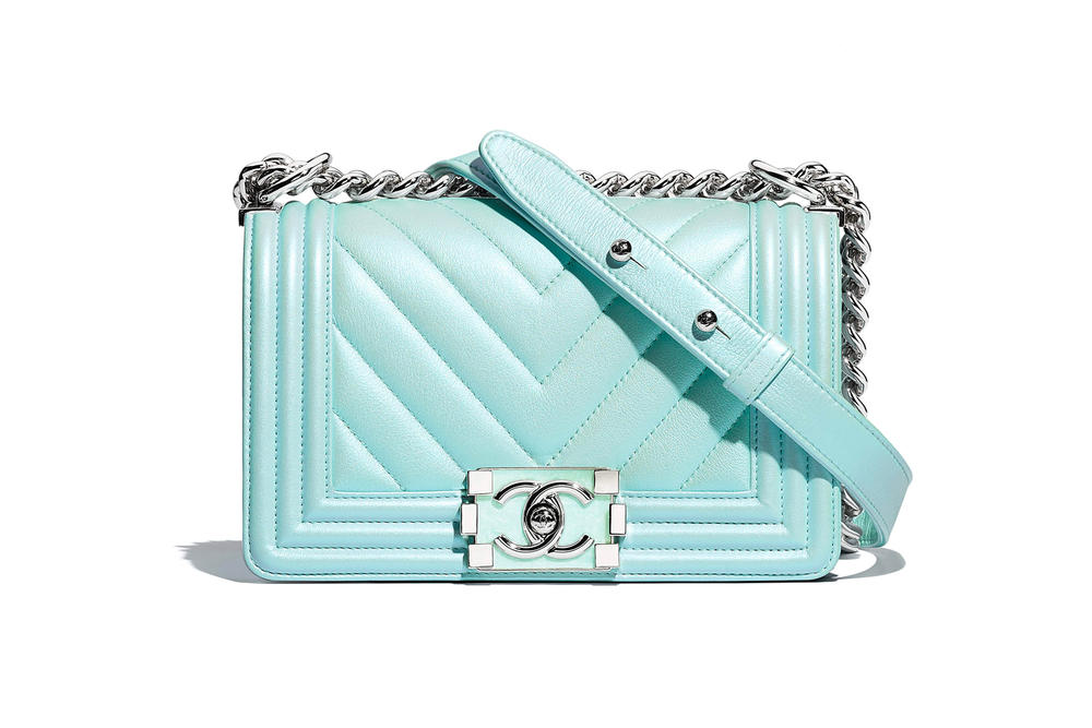 Chanel Boy Bag Spring Summer 2018 Pre Collection Pastel Blue Mini