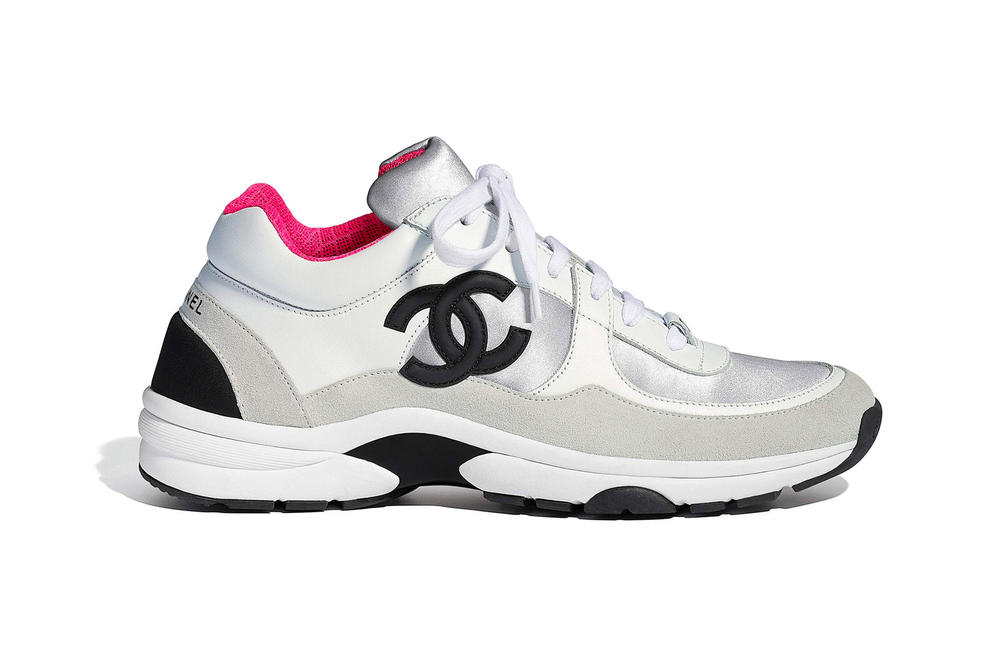 Chanel Spring Summer 2018 Pre-Collection Pre-Spring Sneaker Logo CC Double C Karl Lagerfeld Pink