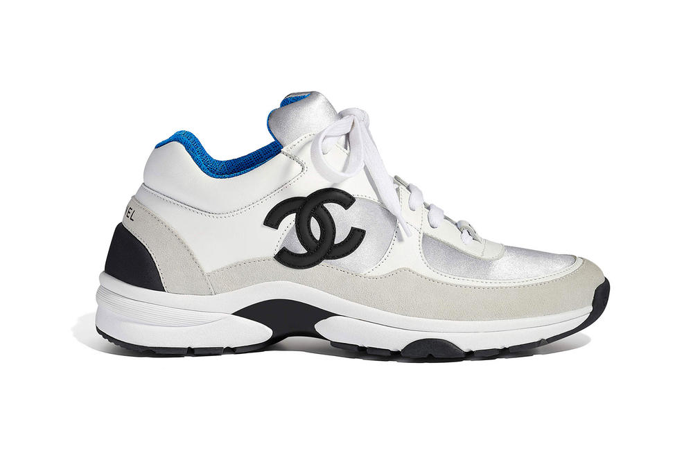 Chanel Spring Summer 2018 Pre-Collection Pre-Spring Sneaker Logo CC Double C Karl Lagerfeld Blue White