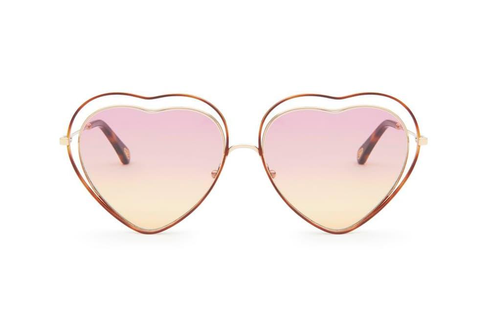 Chloe Poppy Sunglasses Havana Pink Yellow Heart