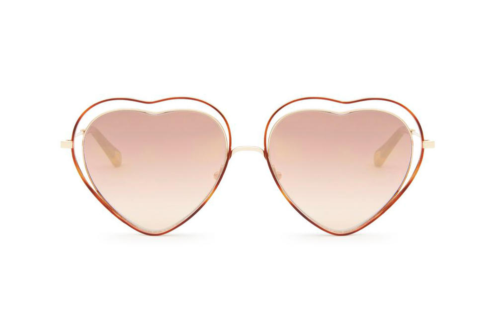 Chloe Poppy Sunglasses Havana Pink Mirror Heart