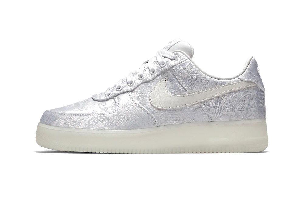 73eede3e119fb CLOT edison chen nike air force 1 premium chinese embroidery white silk  2018 release info where