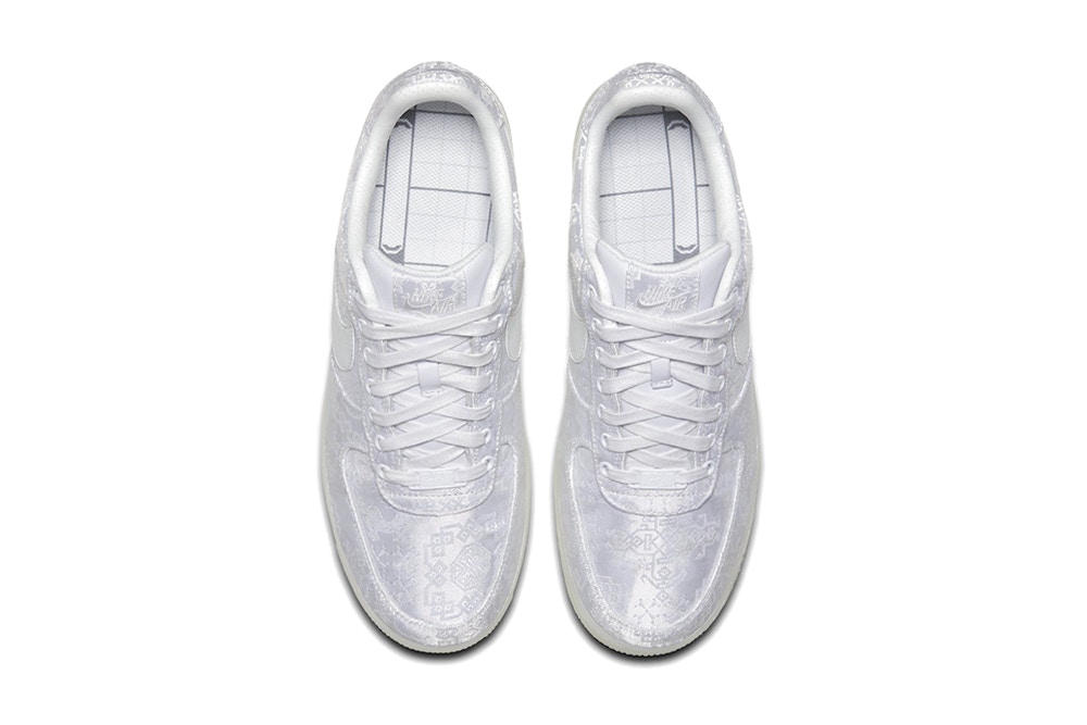 CLOT edison chen nike air force 1 premium chinese embroidery white silk 2018 release info where to buy