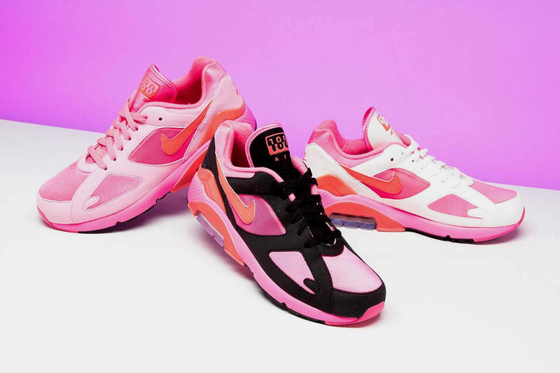 COMME des GARÇONS Nike Air Max 180 Pink Collection Sneaker