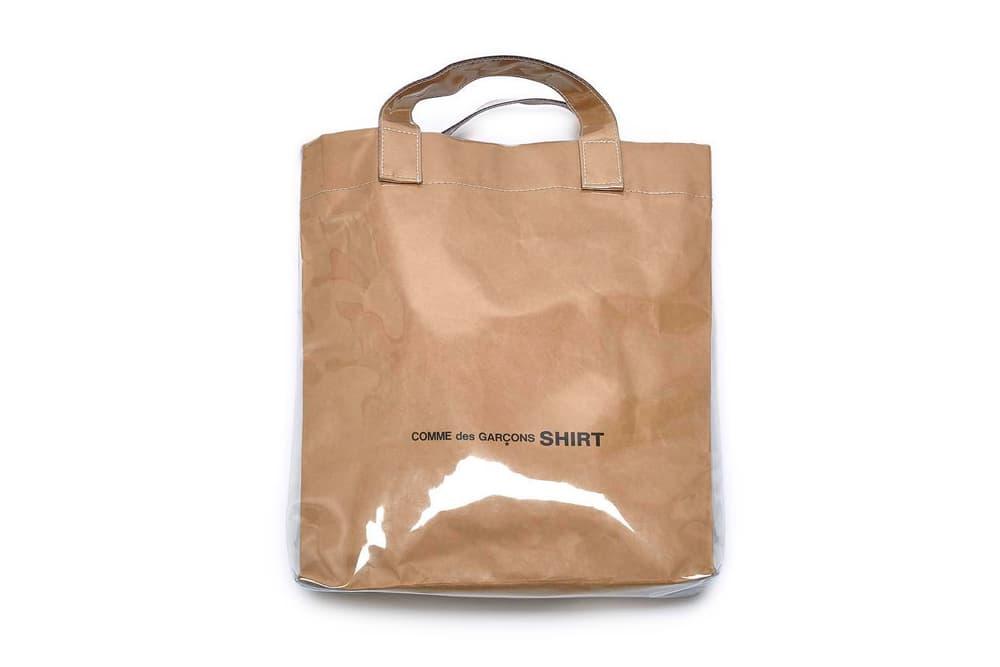 COMME des GARÇONS SHIRT PVC Plastic Paper Tote Bag New Dover Street Market Strap Shoulder