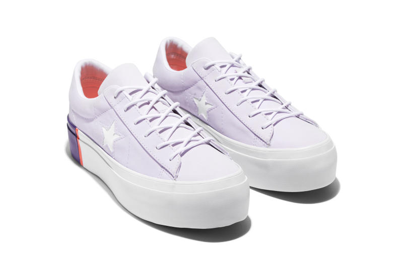 fdf58e90c2b5 Converse One Star Colorblocked Platform Grape Rush Coral