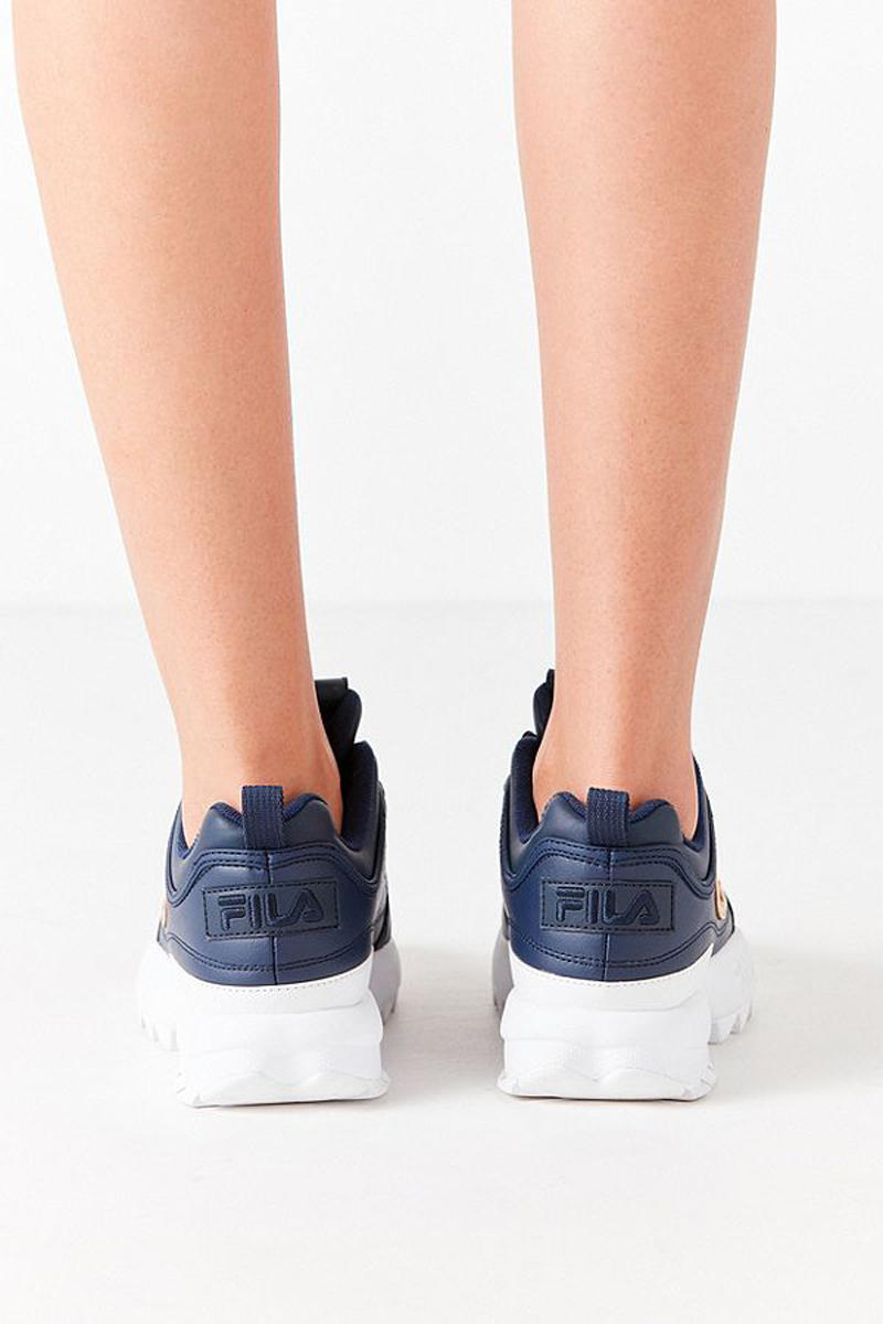 Fila x Urban Outfitter Disruptor 2 Navy Back View