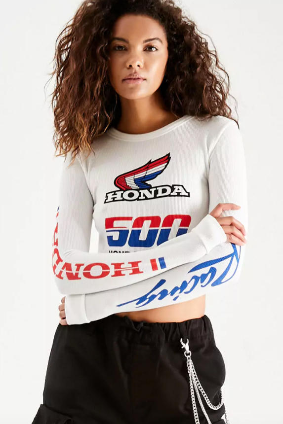 Forever 21 Motocross Honda Collection Capsule Race Inspired Colorful Sportswear Gear