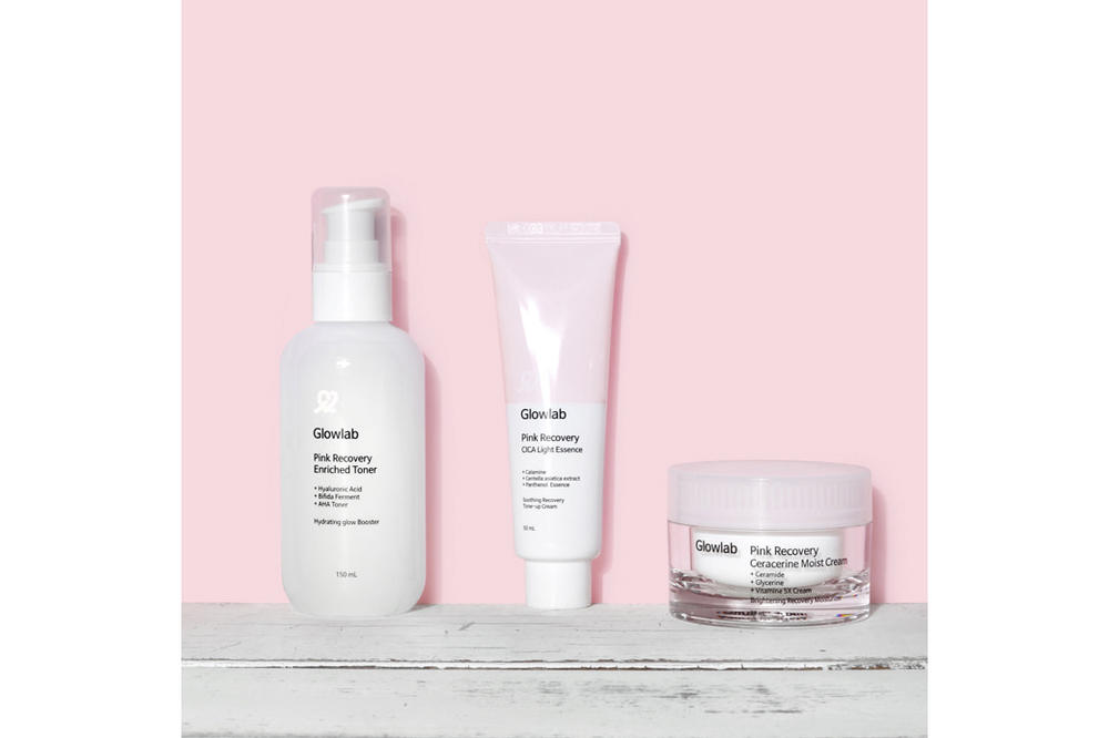 Korean Beauty Brand Glowlab Rip Off Glossier Copy Packaging Pink Skincare Diet Prada Pink Recovering Balm Dotcom Milky Jelly Cleanser Priming Moisturizer Rich Emily Weiss
