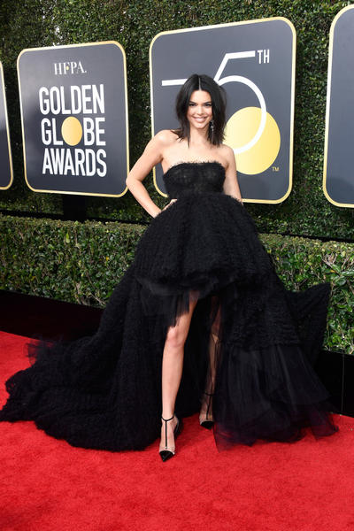 2018 Golden Globes Awards Red Carpet Looks Time's Up Movement Hollywood Entertainment Solidarity MeToo Sexual Assault Initiative Actresses Kendall Jenner Millie Bobby Brown Zoe Kravitz Reese Witherspoon Alicia Wikander
