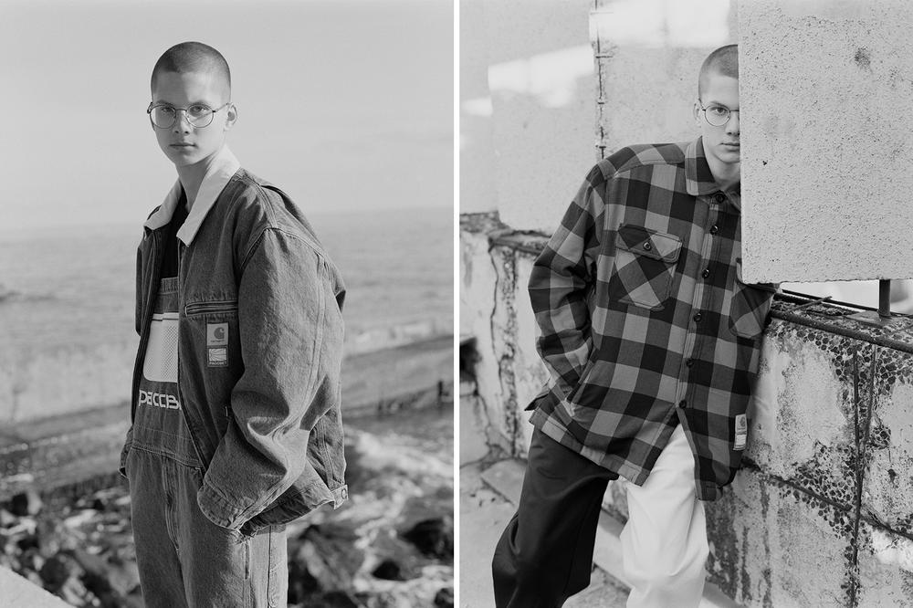 PACCBET x Carhartt WIP Capsule Collection Overalls Plaid Shirt