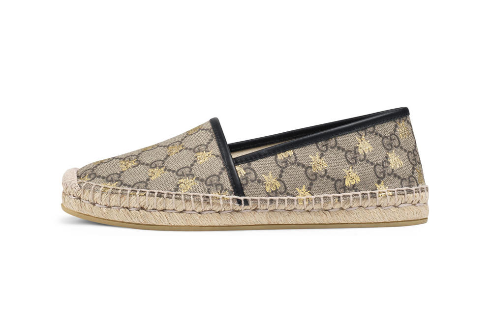 Gucci Canvas Espadrilles Bee GG Logo