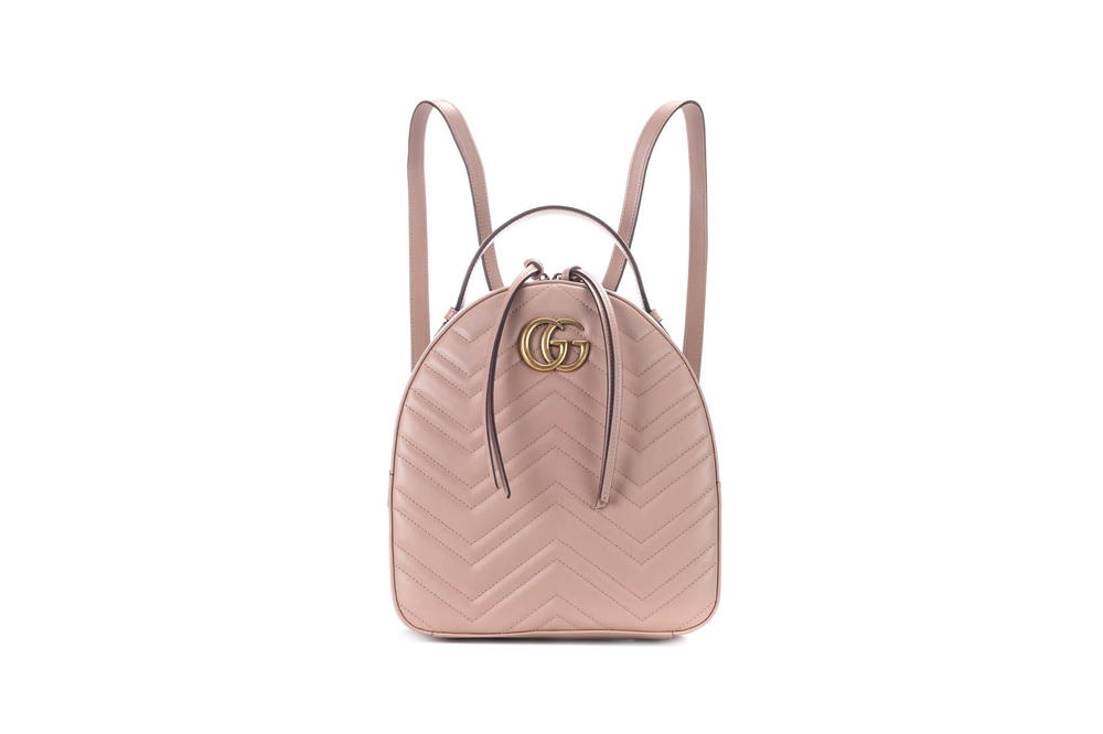 Gucci GG Marmont Matelasse Leather Backpack Porcelain Rose