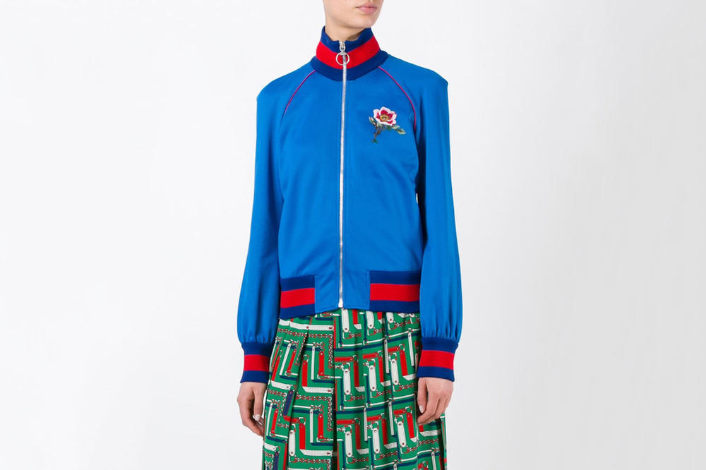 Gucci Luxury Embroidery Blue Tiger Bomber Jacket Print Flowers GG Bold Gucci Stripes Classic
