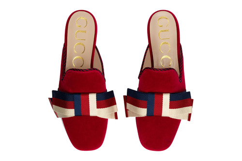 842ec442f545 Gucci's New Bow-Topped Velvet Slippers Are Going to Dominate Spring